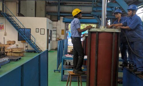 Testing Of Large Pneumatic Cylinder