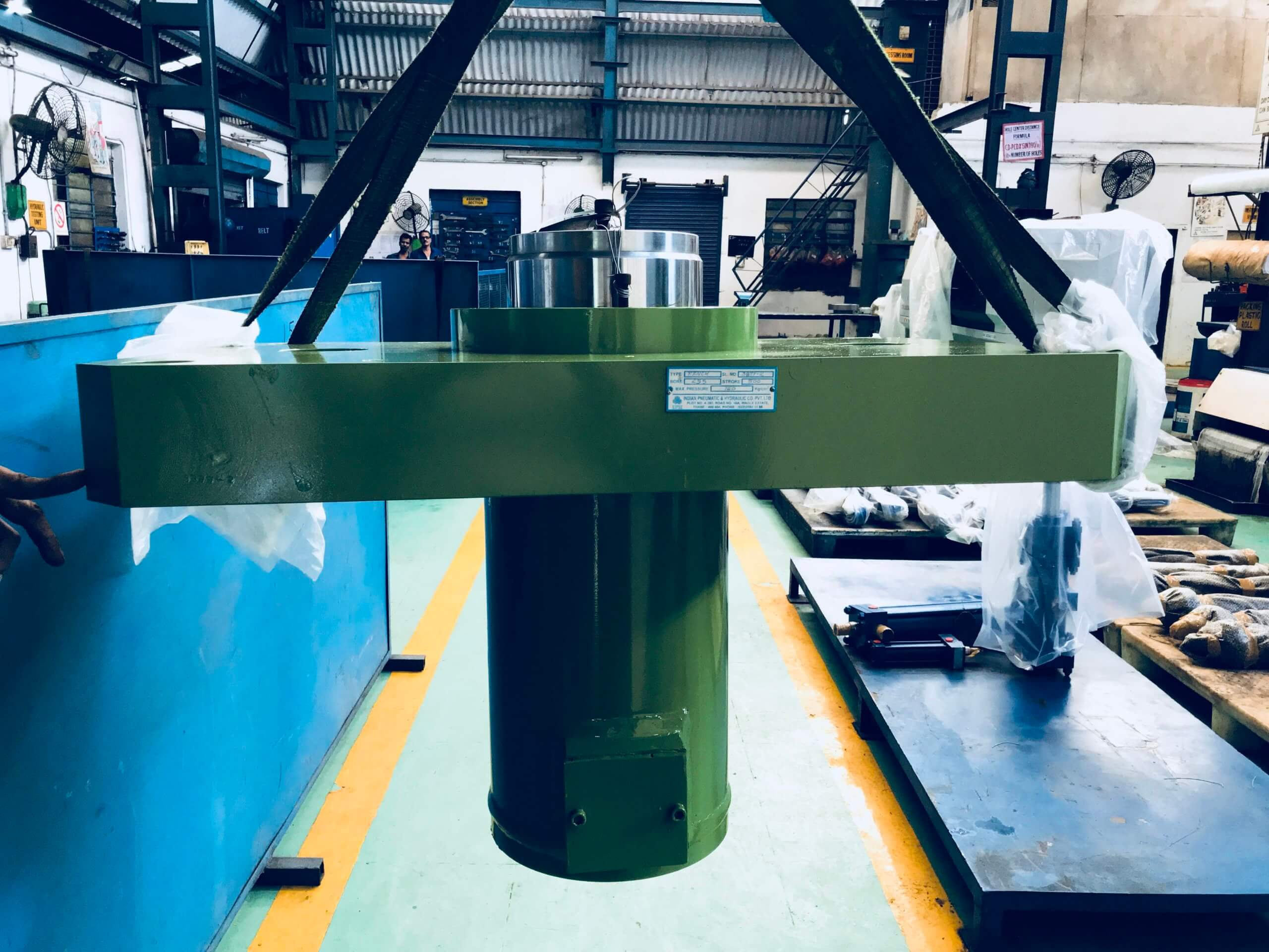Tyre Compression Press Cylinder